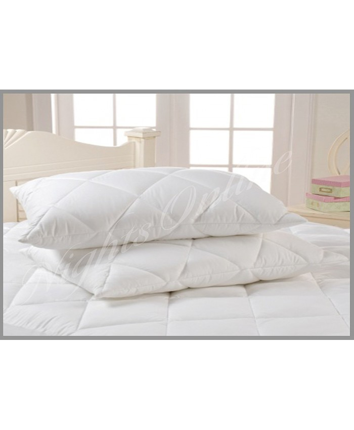 2 Super Jumbo Quilted Pillows - Sleep Wise Super Deluxe