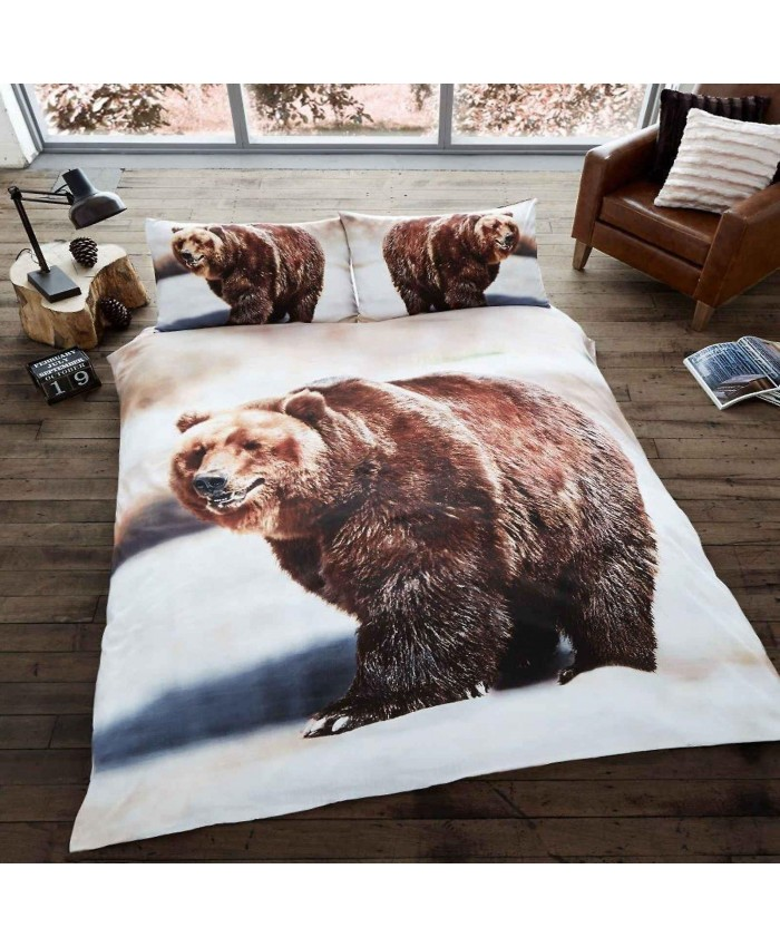 3D Bear Duvet Cover Set Reversible