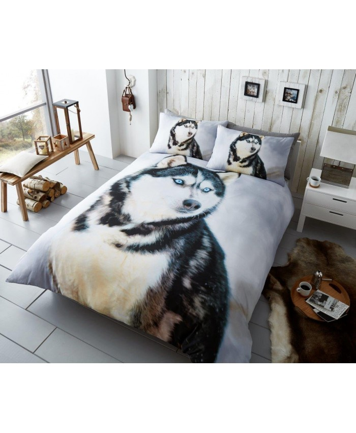 3D Husky Duvet Cover Set Reversible