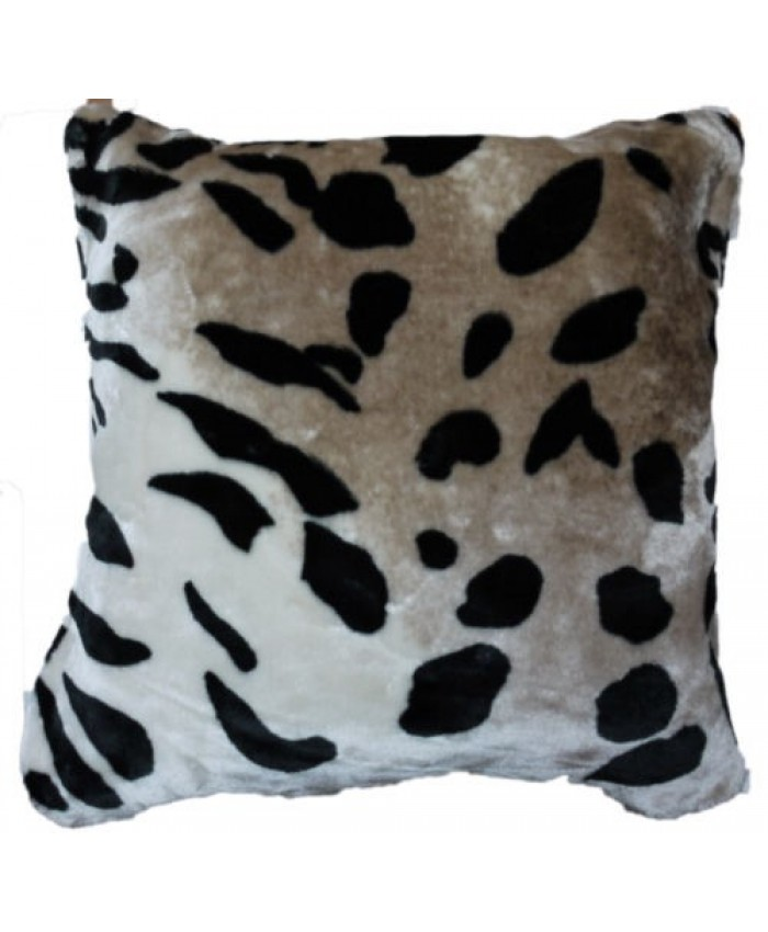 Jaguar Faux Fur Animal Cushion Cover with Cushion