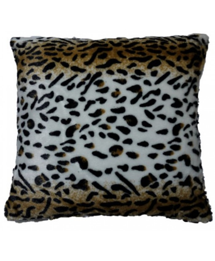 Lion Faux Fur Animal Cushion Cover with Cushion
