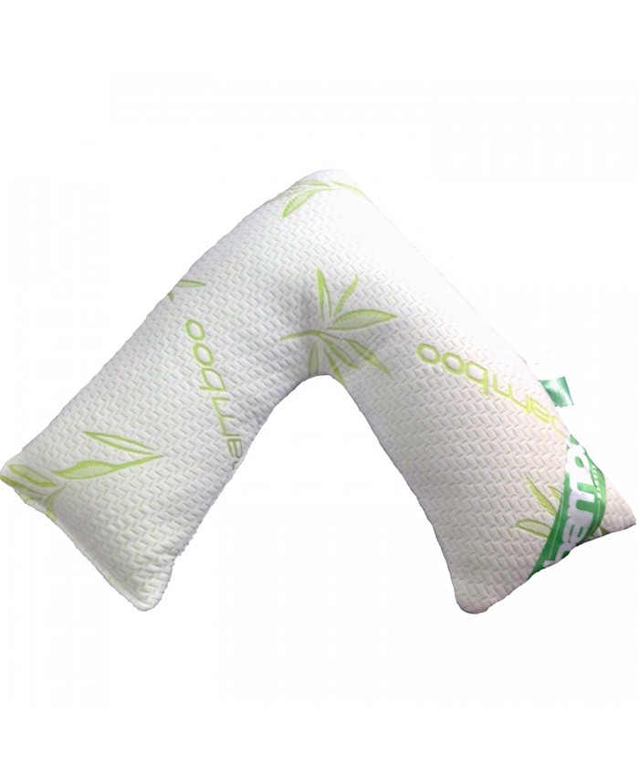 Bamboo V Shape Orthopedic Support Anti Bacterial Pillow