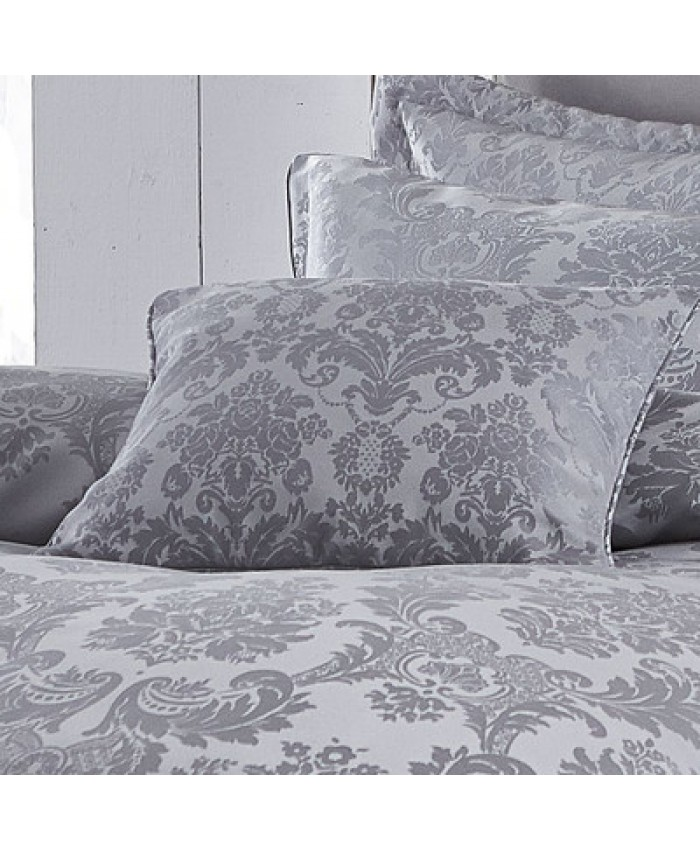 Damask Jacquard Cushion Set Silver| Catherine Lansfield