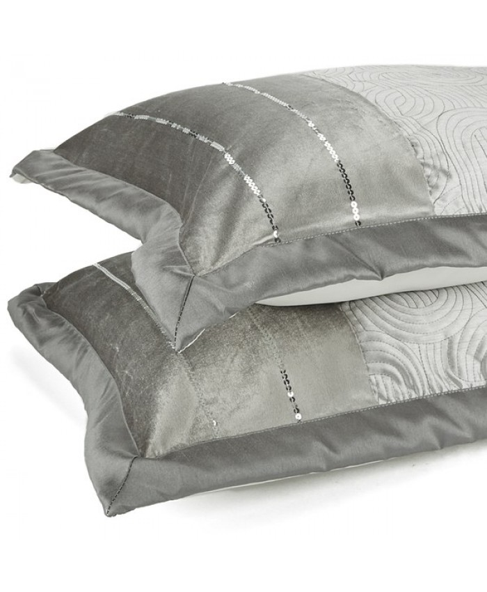 Gatsby Silver Pillowshams | Catherine Lansfield