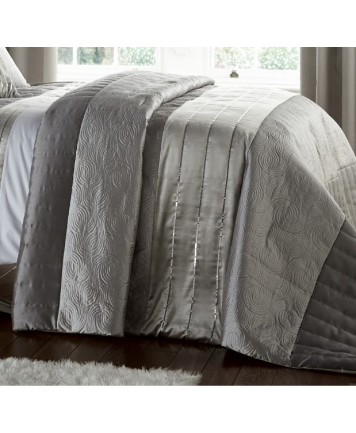 Gatsby Silver Bedspread | Catherine Lansfield