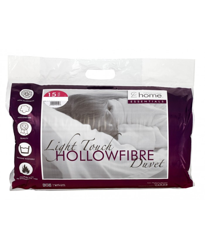 15 Tog Hollowfibre Light Touch Duvet Quilt | Catherine Lansfield