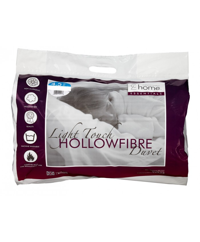 4.5 Tog Hollowfibre Light Touch Duvet Quilt | Catherine Lansfield