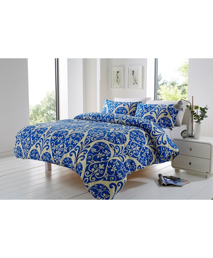 Olivia Rocco Chloe Indigo Blue & Cream | Duvet Cover Set