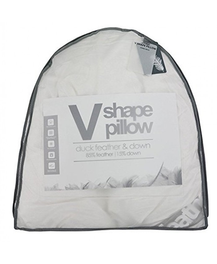 Duck Feather /& Down V Shape Orthopaedic Maternity Nursing Pillow