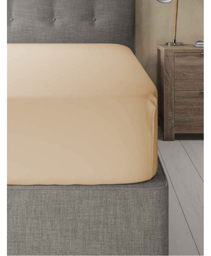 Extra Deep Non Iron 180TC Fitted Sheet | Beige