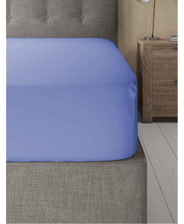 Extra Deep Non Iron 180TC Fitted Sheet | Blue