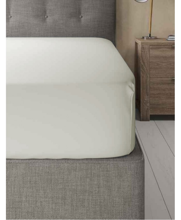Extra Deep Non Iron 180TC Fitted Sheet | Cream