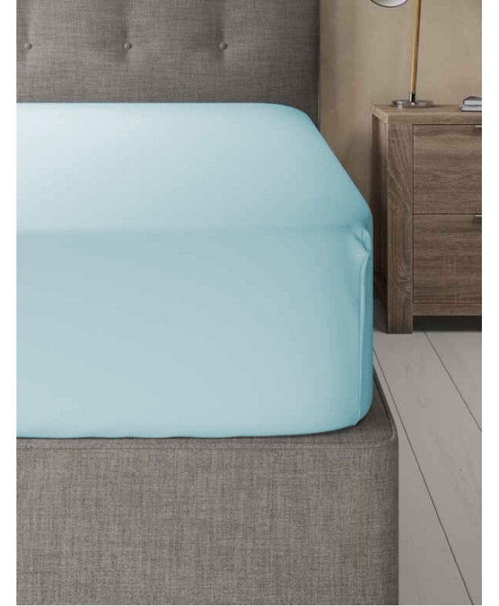 Extra Deep Non Iron 180TC Fitted Sheet | Duck Egg Blue