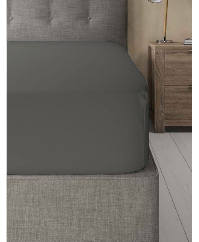 Extra Deep Non Iron 180TC Fitted Sheet | Grey