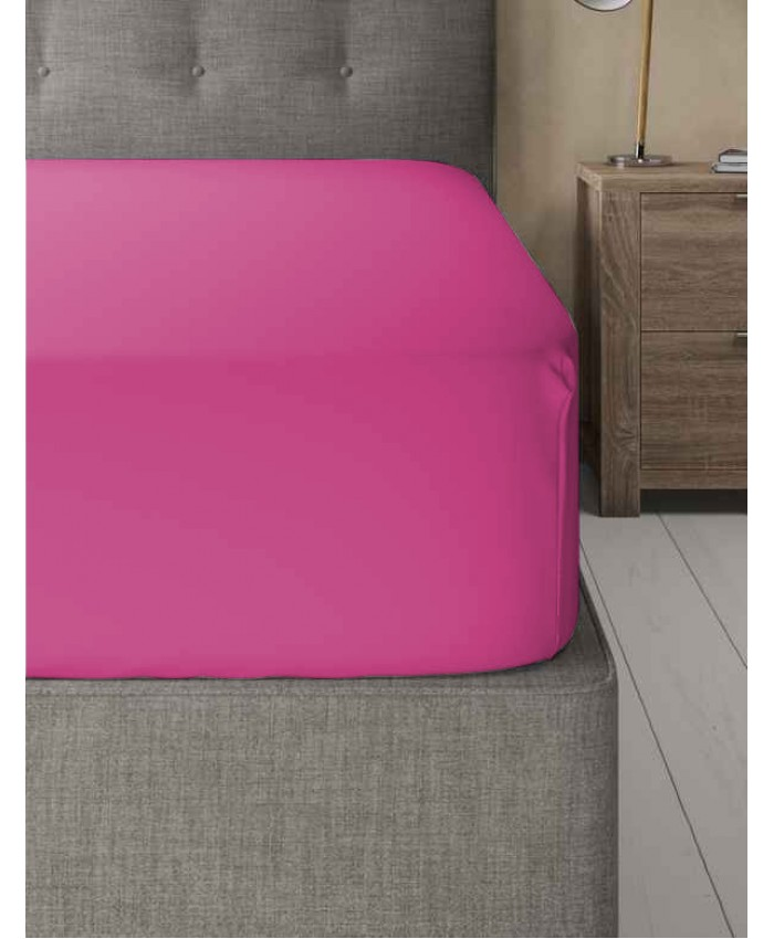 Extra Deep Non Iron 180TC Fitted Sheet | Hot Pink