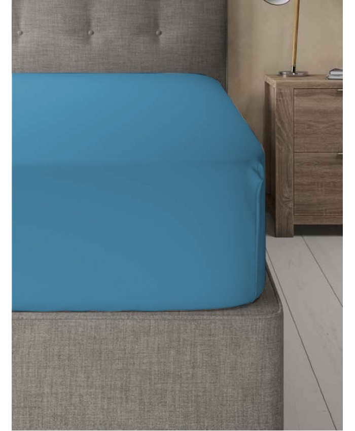 Extra Deep Non Iron 180TC Fitted Sheet | Teal