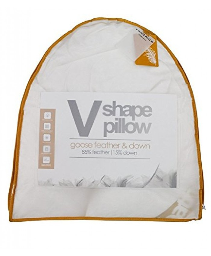 Luxury Goose Feather & Down Orthopaedic V Shaped Pillow