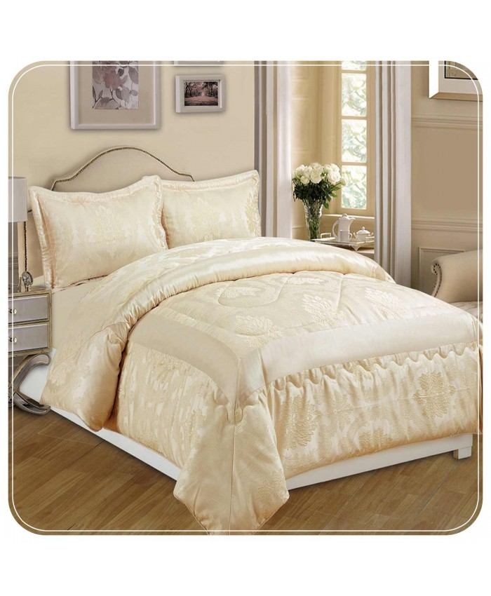 Jacquard Cream 3PC Bedspread | Imperial Rooms