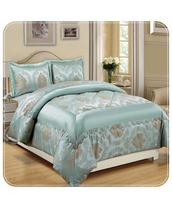 Jacquard Duck Egg 3PC Bedspread | Imperial Rooms