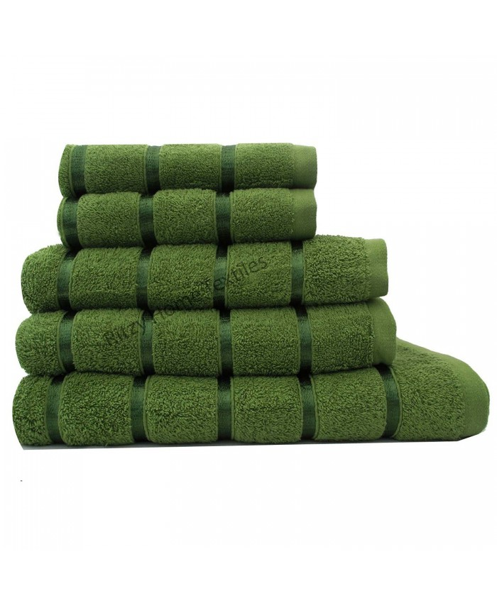 Mid Green Egyptian Cotton 500GSM Towel Set