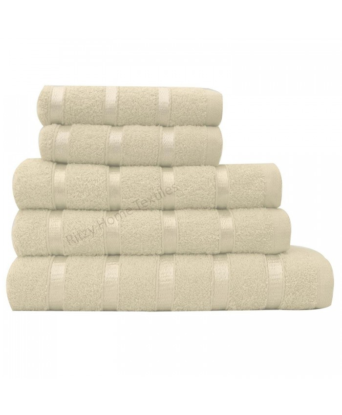 Cream Egyptian Cotton 500GSM Towel Set