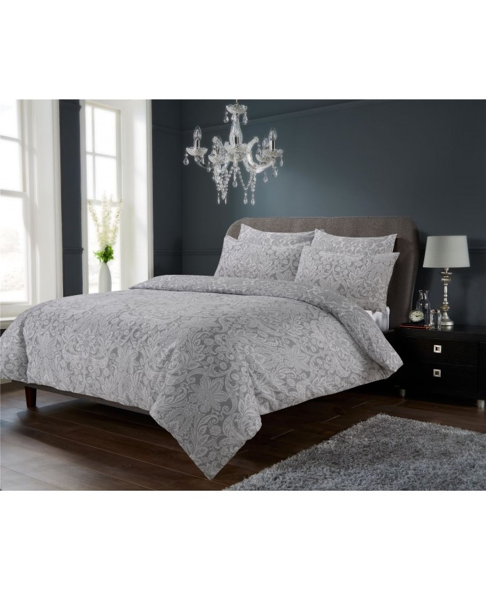 Olivia Rocco Chantilly Silver | Duvet Cover Set