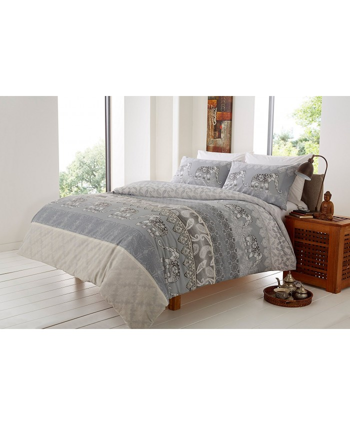 Elly Grey Duvet Cover Set | Olivia Rocco