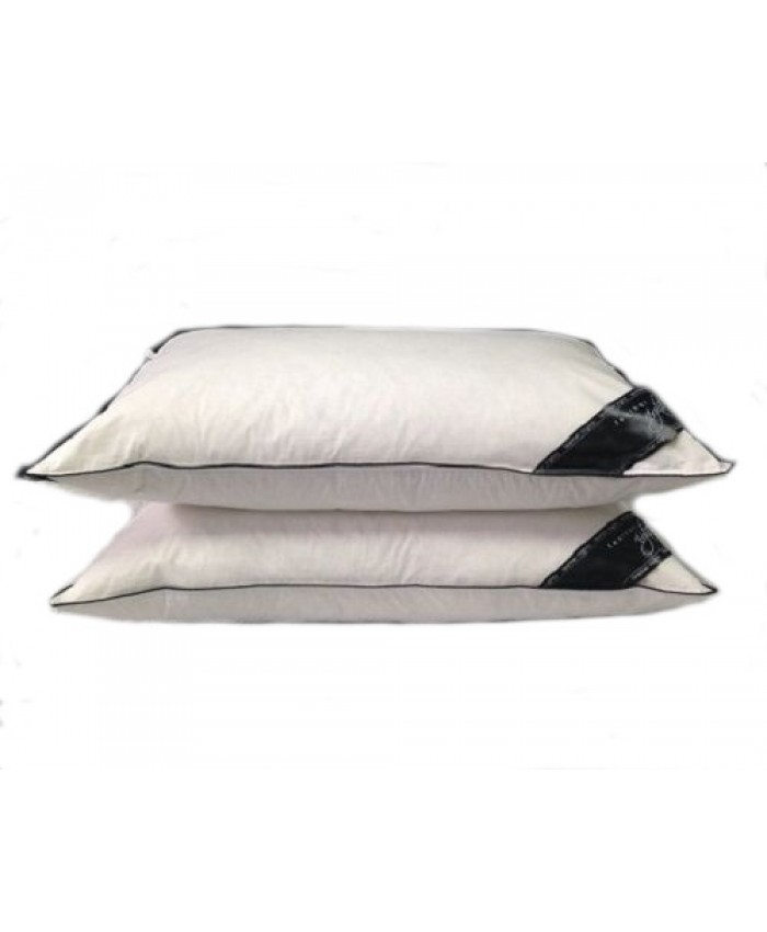 100% Duck Feather Filled Pillow Pair with 100% Cotton Cover - 233 Thread Count