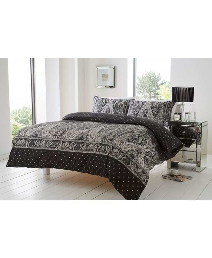 Olivia Rocco Kensington Duvet Cover Set Black & White