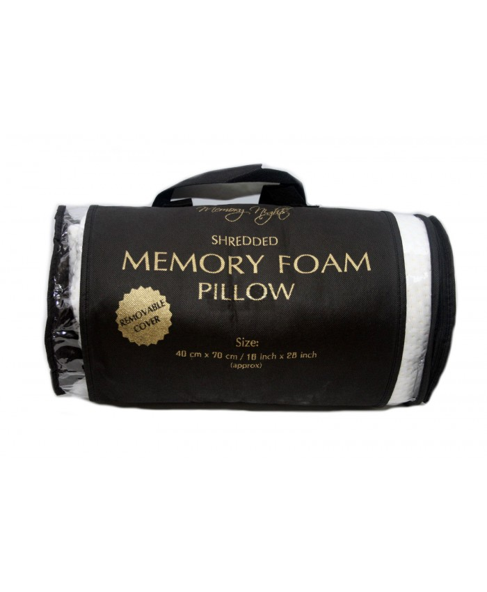 Shredded Memory Foam Pillow with Removable Cover